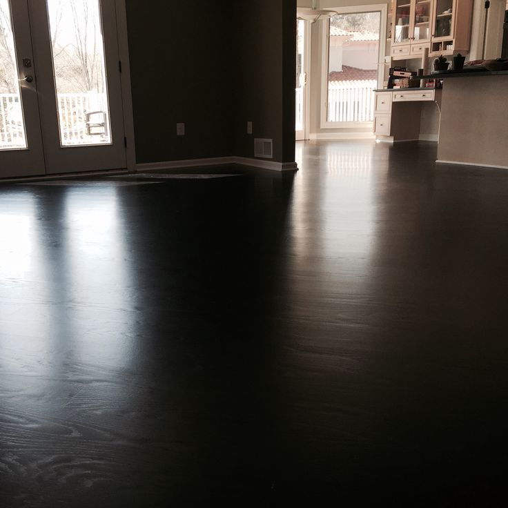 5 Quot Red Oak Sanded And Stained Duraseal True Black And
