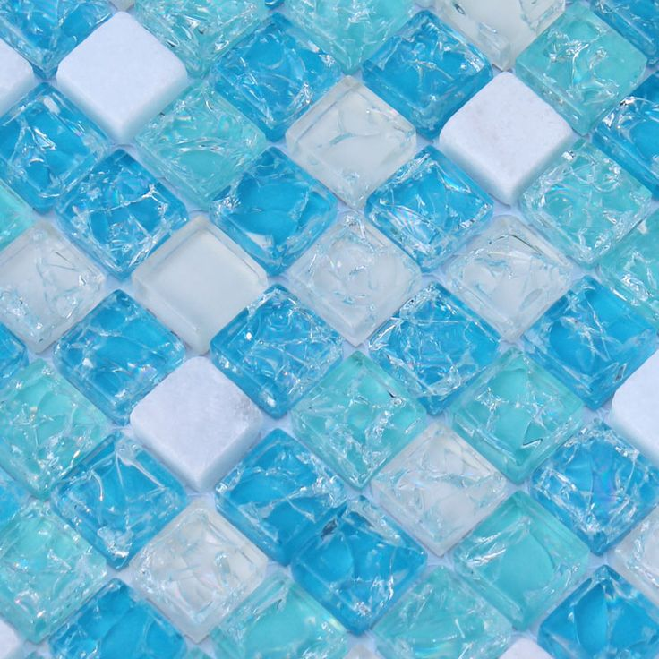 Cream stone and glass tile backsplash for kitchen and bathroom crackle blue sea crystal glass mosaic tiles sheet cheap wall tiles SGY001; Size: 300x300x8mm; Color: Blue and Cream; Shape: Square; Usage: Backsplash & Wall
