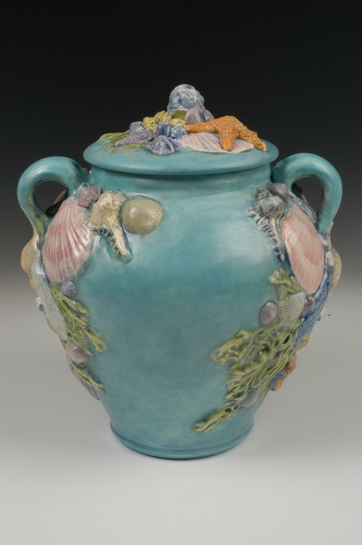 Seashell Ocean Theme Handmade Ceramic Urn Urn And Ocean