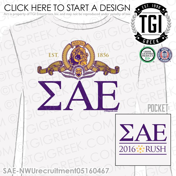 TGI Greek - Sigma Alpha Epsilon - Recruitment - Greek Apparel #tgigreek #sigmaalphaepsilon
