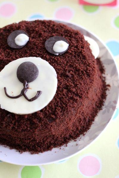 simple bear cake