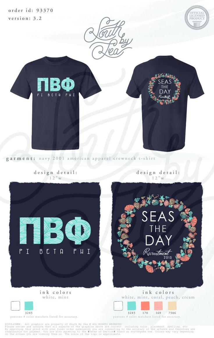 Shirt design jacksonville fl - Pi Beta Phi Pi Phi Seas The Day Recruitment Shirt Inspiration South