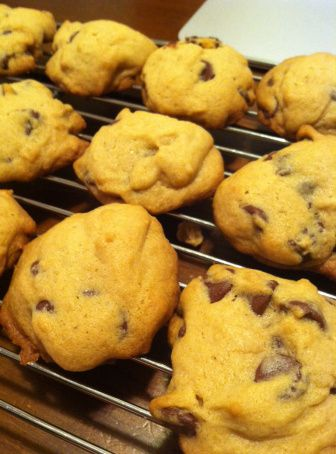 Simple chocolate chip cookies. Just made these but substituted 1/2 cup of the butter with coconut oil, and they are delicious!