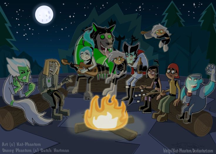 DP-Summer Campfire by Kat-Phantom.deviantart.com on @deviantART. OMG VLAD!!! I laughed SO hard!!! Danny's face is priceless!!