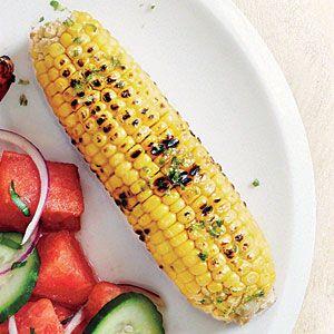 Garlic-Lime Grilled Corn | MyRecipes.com