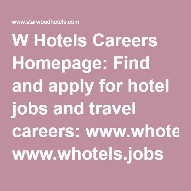 http://atvnetworksamerica.com/index.html  W Hotels Careers Homepage: Find and apply for hotel jobs and travel careers: www.whotels.jobs