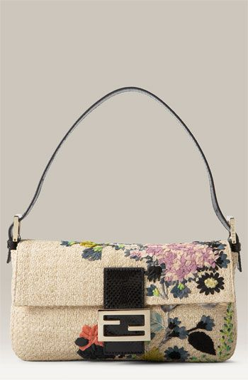 Fendi Floral Baguette available at Nordstrom, yes I'll take two for the sale price of $779