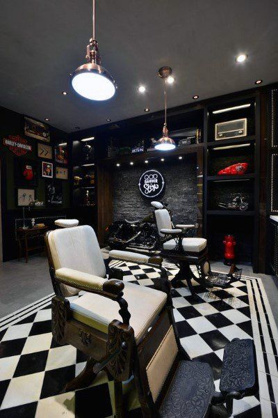 Top 80 Best Barber Shop Design Ideas Manly Interior Decor Logo
