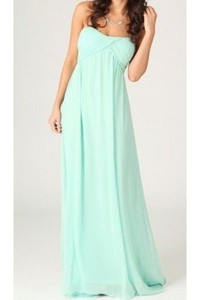 +mint+Green+Cocktail+Dresses | Green Prom Dress - Mint Strapless Maxi with Gathered | UsTrendy