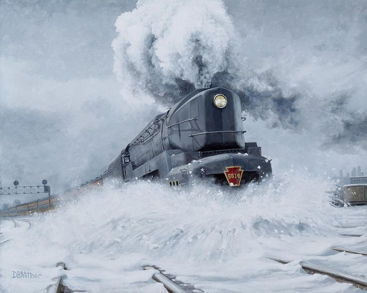 Dashing Through The Snow Painting by David Mittner - Dashing Through The Snow Fine Art Prints and Posters for Sale