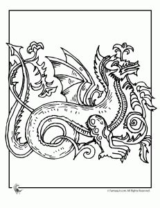Celtic Dragon Coloring Page 3  Great kids printable color pages