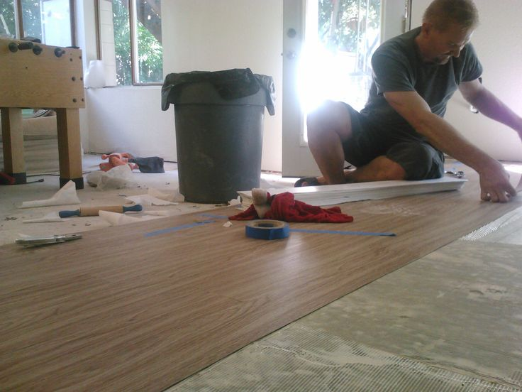 Laying Vinyl Plank Flooring Fixing Up Our Unfinished