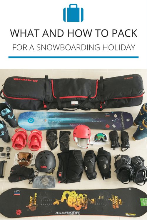How and what to pack for your next snowboarding holiday. You can totally use it as a ski trip packing list too, just swap out the snowboard gear for ski gear!