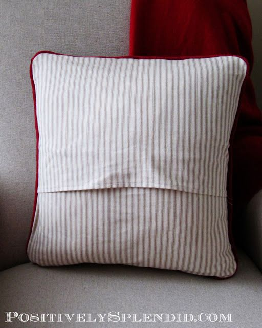 How to Sew an Envelope Back Pillow Cover   Positively Splendid {Crafts, Sewing, Recipes and Home Decor}
