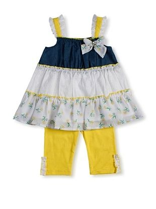 39% OFF Little Lass Girl's 2-Piece Skimmer Set (Yellow)