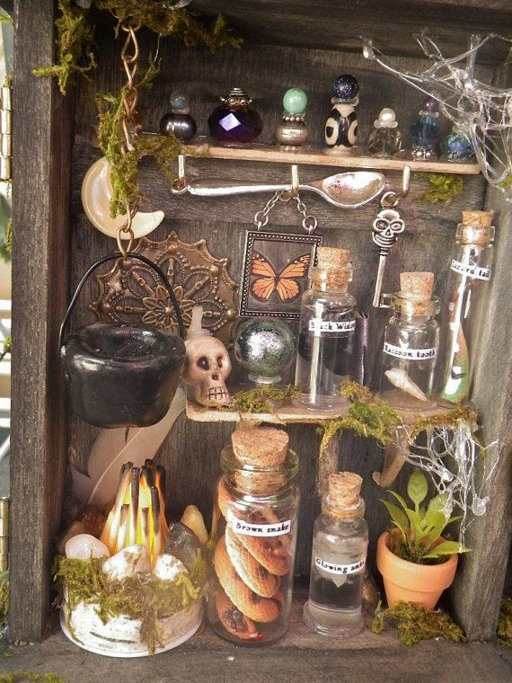 ON HOLD Mini Fairy Apothecary diorama shadowbox by lotusfairy