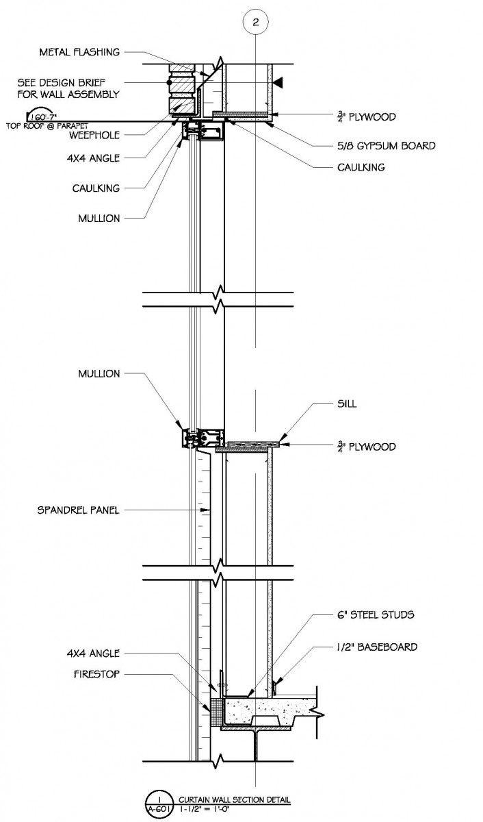 Image Result For Metal Mullion Detail Commercial Building Plans
