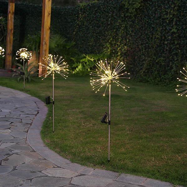 Solar Powered Led Firework Garden Stake Solar Garden Stakes