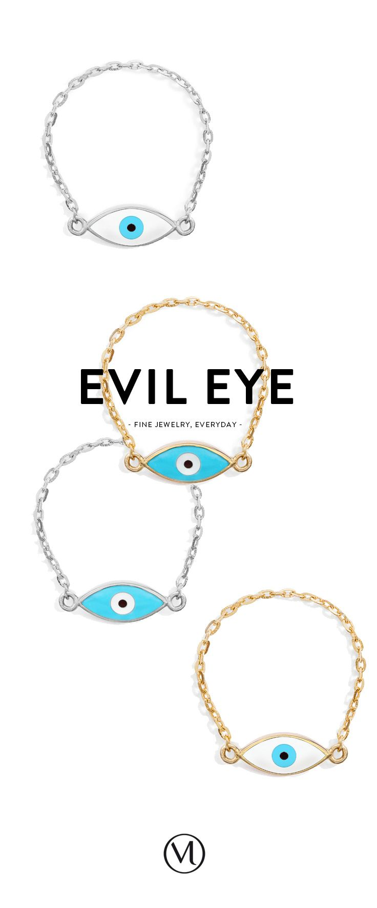 They are the ones. Mejuri Evil Eye chain rings. In 18k Gold or Sterling Silver