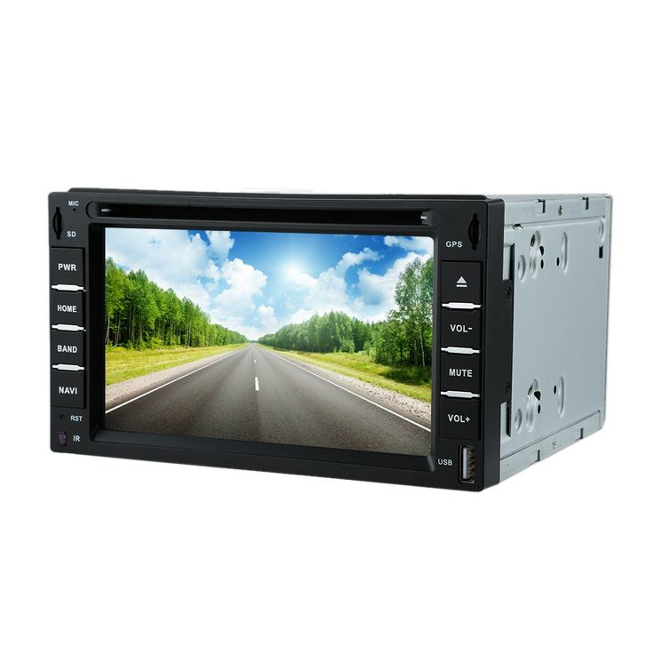 "High Quality 6"" 2 Din Car DVD USB SD Player GPS Navigation Bluetooth Radio Multimedia HD Entertainment System for Car from Tomtop.com"