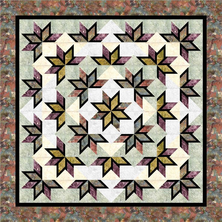 Shooting Stars Paper Piecing Patterns Foundation Paper