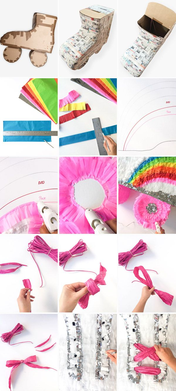 DIY Roller Skate Piñata | Oh Happy Day!