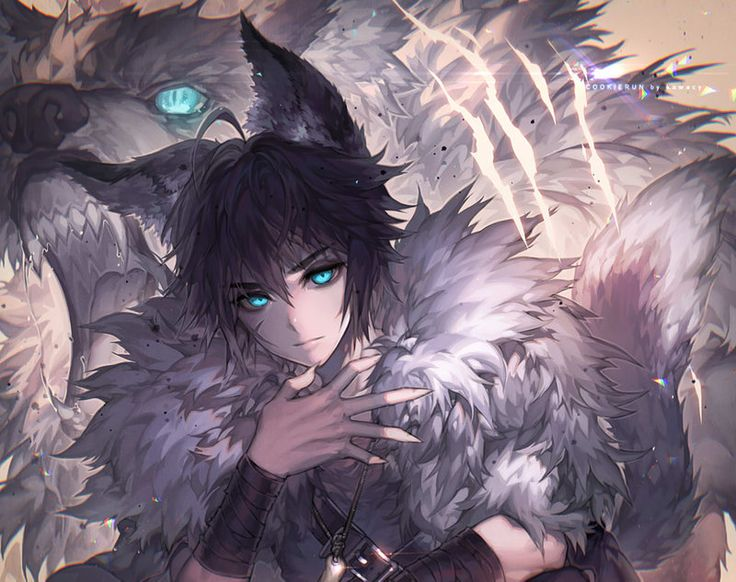 The monster inside me by kawacy, werewolf fan art, anime manga, wolf, digital painting, illustration, inspirational art