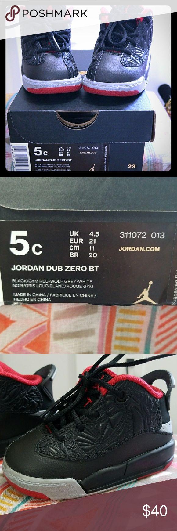 Kids Jordan Dub Zero Black/Gym Red-Wolf Grey-White Size: 5c Jordan Shoes Sneakers
