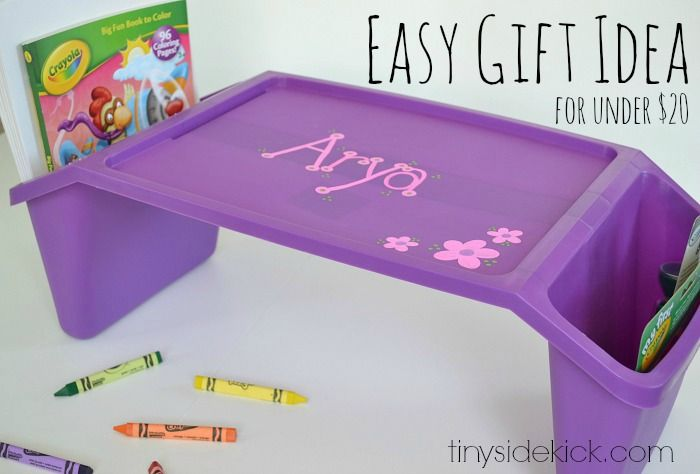 Making a personalized birthday gift for kids is so easy with a few fun items and Sharpie paint pens!