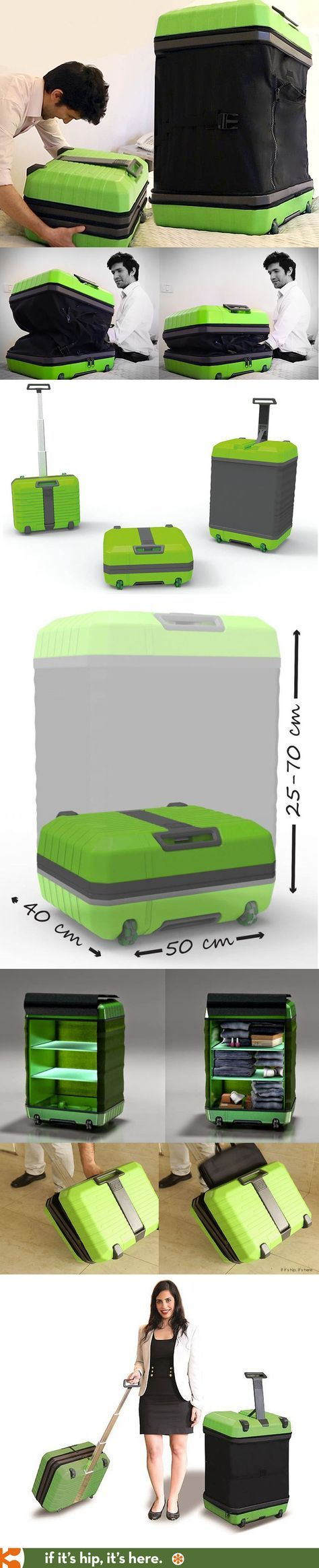 FUGU - revolutionary expanding luggage that goes from a carry-on into a check-in piece of baggage in seconds.   http://www.ifitshipitshere.com/fugu-expandable-luggage/
