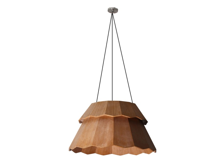 LAMPU JANUR -  A pendant that was inspired by the shape of janur, a traditional decorative  handicraft that is normally used to decorate traditional ceremonies. This  pendant i s made out of plywood  and creates a warm, shelter-like feel  for people beneath it.  Designed by Alvin Tjitrowirjo | www.alvin-t.com