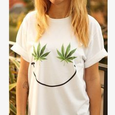 Hey, I found this really awesome Etsy listing at https://www.etsy.com/listing/208780234/weed-smiley-t-shirt-shirt-tee-unisex