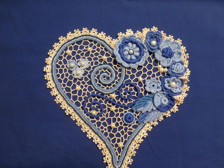 125 best irish crochet lab images on pinterest crochet flower irish crochet applique flowers heart pattern is available through beginner video tutorials dt1010fo