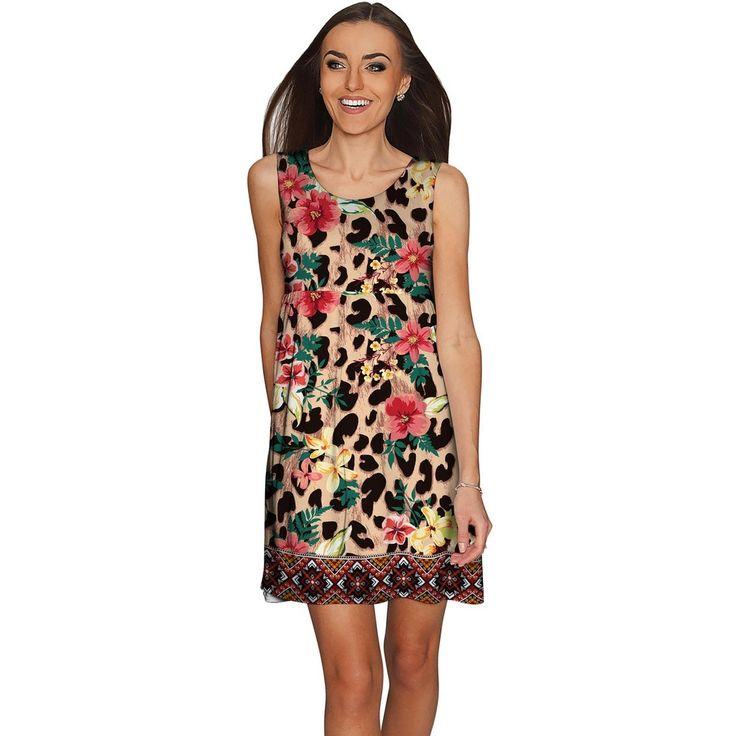 Wild & Free Sanibel Fit & Flare Leopard Print Dress - Women