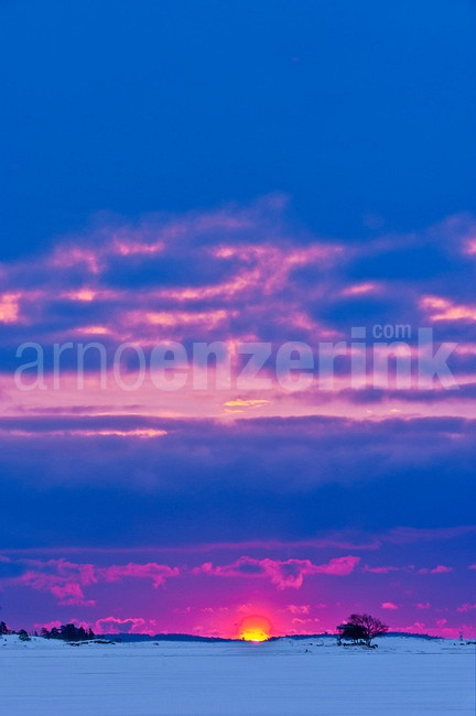 Spectacular colors on a crisp morning's sunrise  © Arno Enzerink / www.stockphotography.nu All rights reserved.