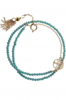 NUÉE Armband Türkis vergoldet