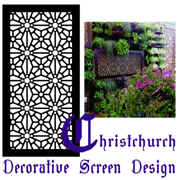 Every Tuesday on the QAQ blog we feature one screen design and pair it with a specific type of decorating style--this geometric, stain-glass styled laser cut decorative screen  is 'Christchurch', and we feature it with gothic architectural design.