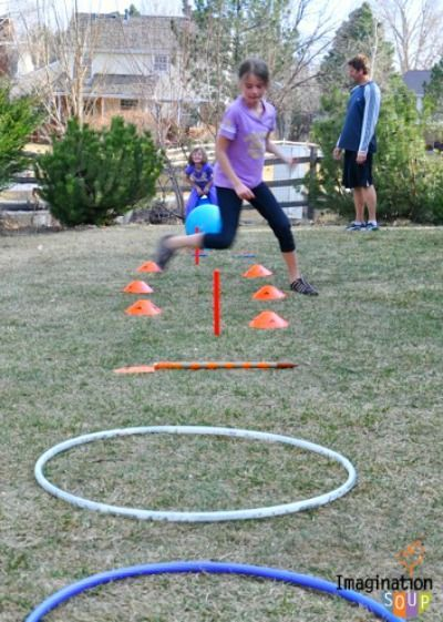 DIY Obstacle Course in the Backyard - it's our favorite fun way to stay active with the kids!