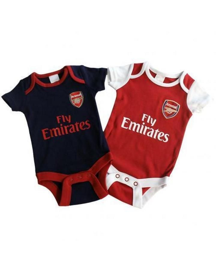 brand new babff cf997 Arsenal Baby Core Kit 2 Pack Bodysuits - 2018/19 Season ...