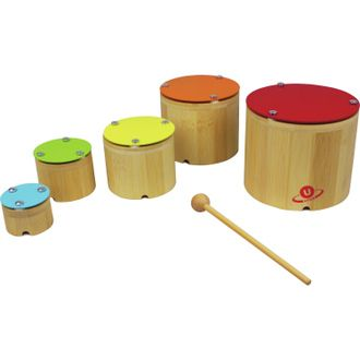 Nicko Nesting Xylophone Bamboo Children's Wooden Musical Toy Set 0