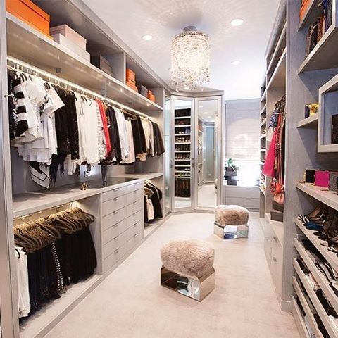 Going for Grey! #laclosetdesign #closet