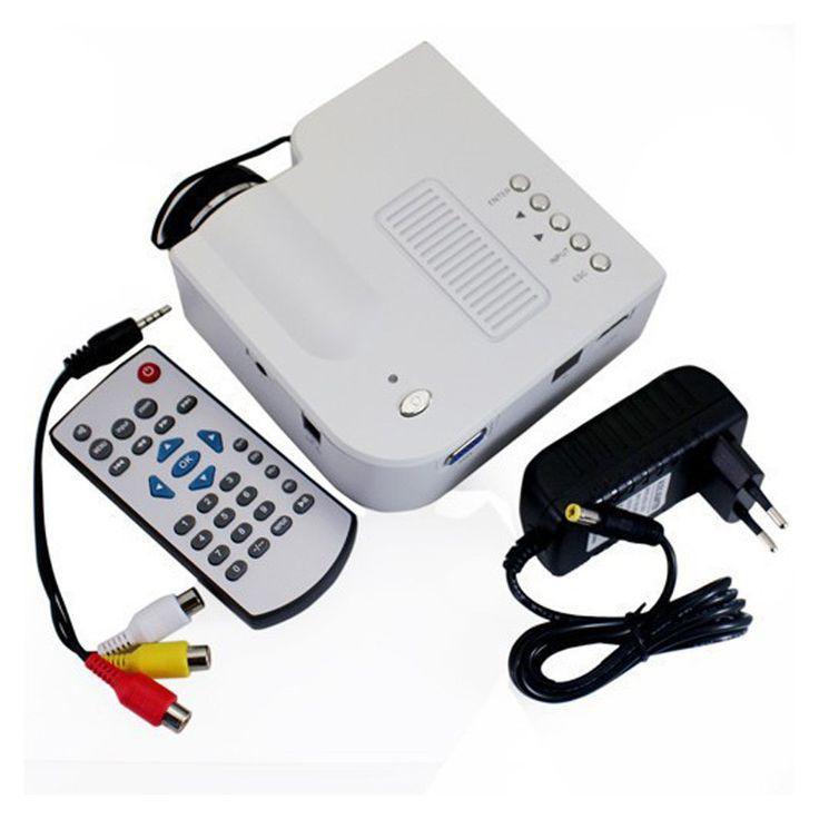 2015 Hot Sale UC28+ Projector HD 1080P Mini LED Digital Video Game Projectors Multimedia Player Inputs AV VGA USB SD HDMI