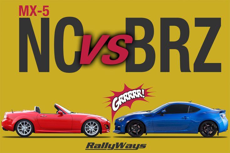 Miata vs BRZ Affordable Sports Cars | #miata #brz #mx5 | Click through to our website to read the complete comparison article.