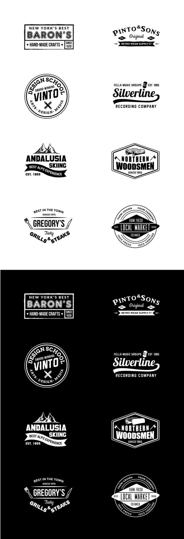 best ideas about logo templates logo vintage logo templates vol 1