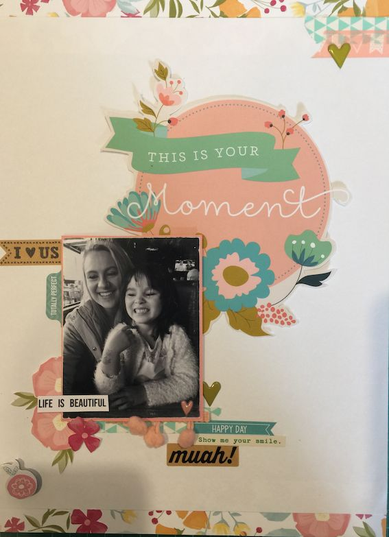 This is Your Moment 9x12 #scrapbooklayout #scrapbooking #layout