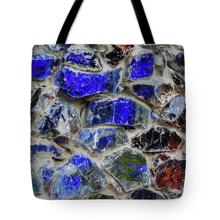 Part Of The Blue Wall Tote Bag by Svetlana Iso.  The tote bag is machine washable, available in three different sizes, and includes a black strap for easy carrying on your shoulder.  All totes are available for worldwide shipping and include a money-back guarantee. #SvetlanaIso #SvetlanaIsoFineArtPhotography #Photography #ArtForHome #InteriorDesign  #Bags #Blue