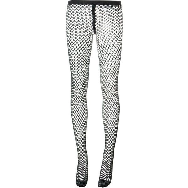 Comme Des Garçons Fish Net Tights ($61) ❤ liked on Polyvore featuring intimates, hosiery, tights, black, fish stocking, fish net stockings, comme des garçons, net tights and net stockings