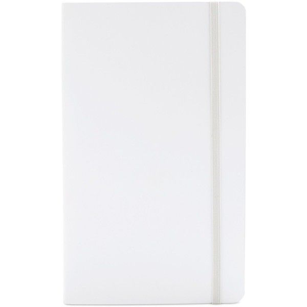 Poppin Medium Soft-Cover Notebook ($13) ❤ liked on Polyvore featuring home, home decor, stationery and white