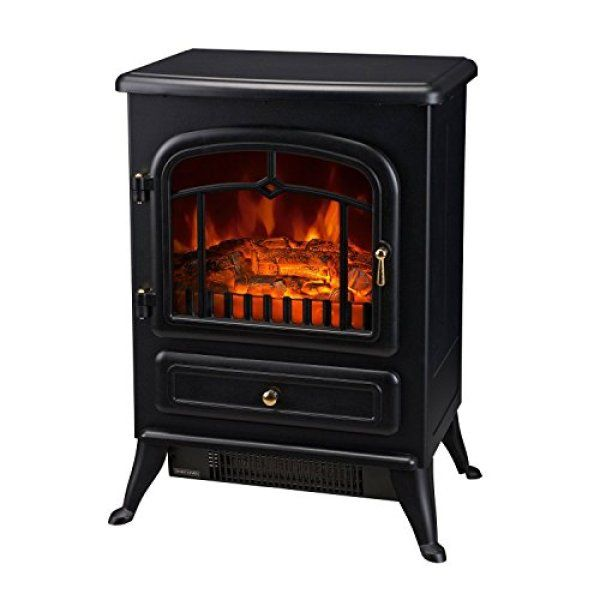 Homcom Free Standing Electric Wood Stove Fireplace Heater Review Free Standing Electric Fireplace Wood Stove Fireplace Wood Stove