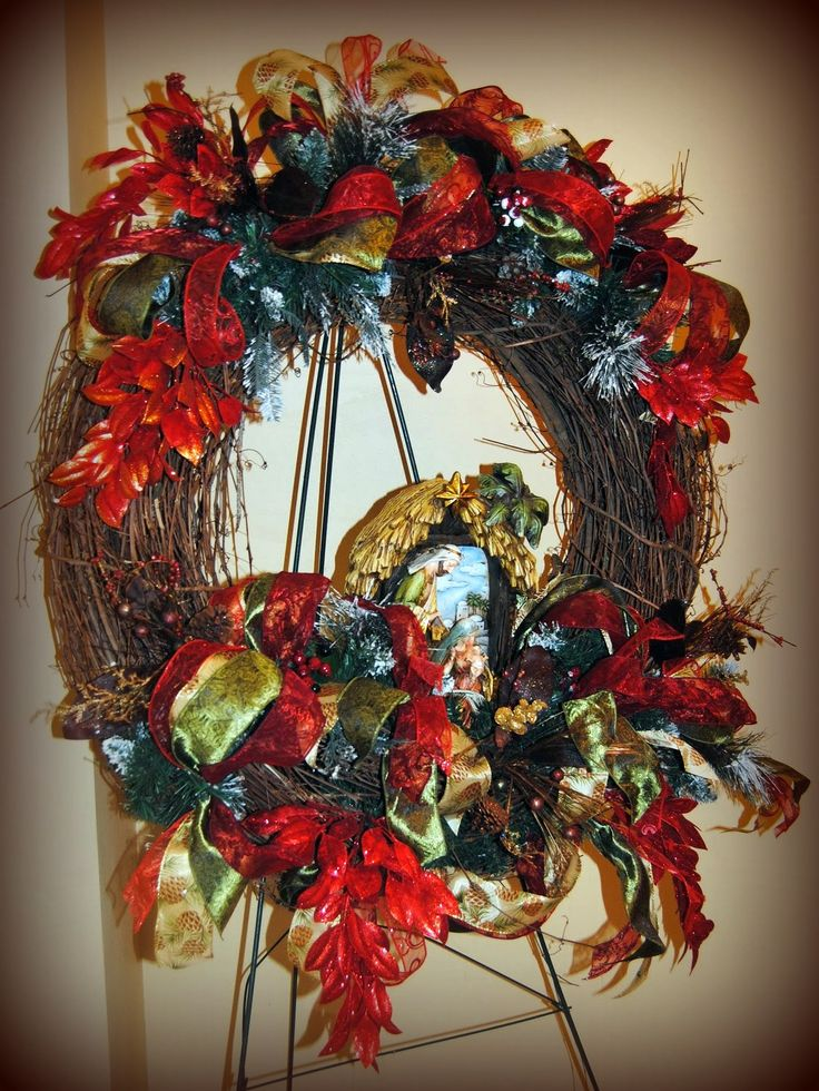 Nativity Scenes Grapevine Wreath And Nativity On Pinterest